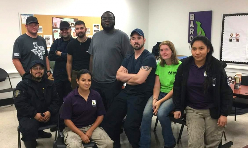 BARC shelter animals were safe during the storm thanks to employees Randy Farmer, Edwin Sabo-Cintron, Chris Dunn, Justin Cousan, Donovan Harris, Olivia Olson, Mariana Castillo, Hugo Parrales and Rebecca Herrera.