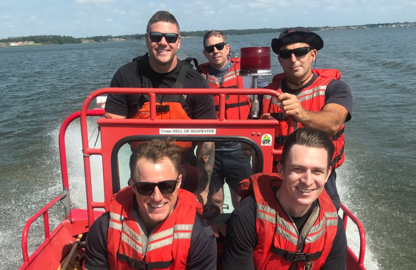 HFD firefighters practice high-water rescue tactics on Lake Houston.