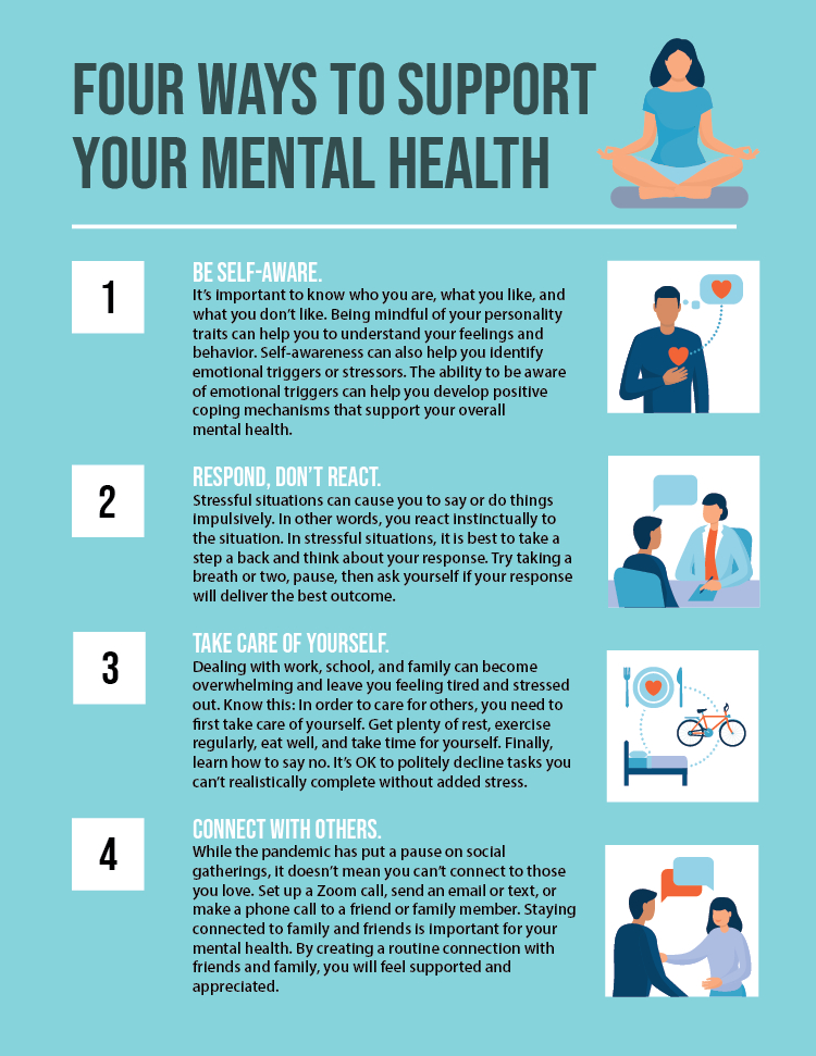 Four ways to support your mental health